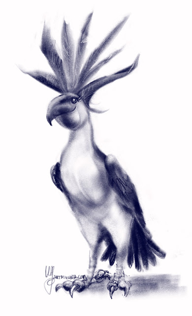 Missing feathers, avsketch by Artmagenta