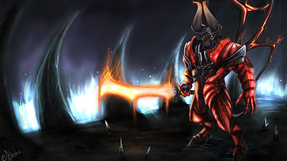 doom bringer lucifer dota 2 game hd wallpaper