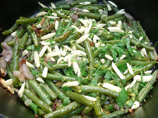 ... Dutch Oven: Garlic-Roasted Green Beans with Shallots and Almonds