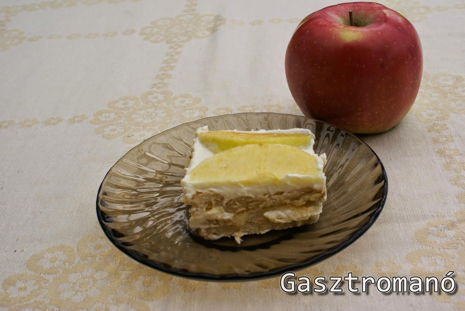 almás kekszes süti sütés nélkül