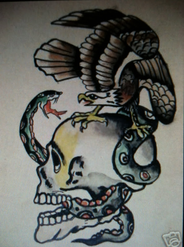 Here are a few traditional American tattoo designs. Original 1910-1940  title=