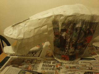 Alien Head Papier Mache