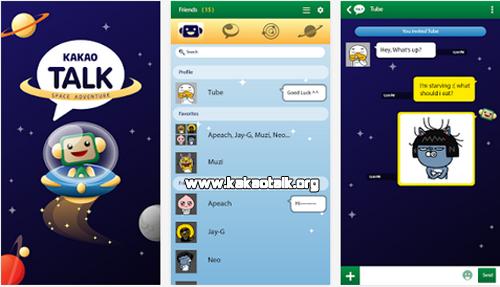 Cambia el fondo de tu telefono con Space KakaoTalk Theme