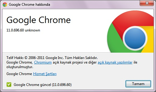 google chrome 11.0.696.60