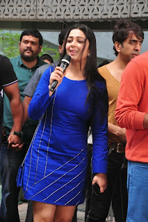 Actress Charmi Kaur Latest Pictures in Short Dress with R Rajkumar Movie Team at Yes Mart 0018