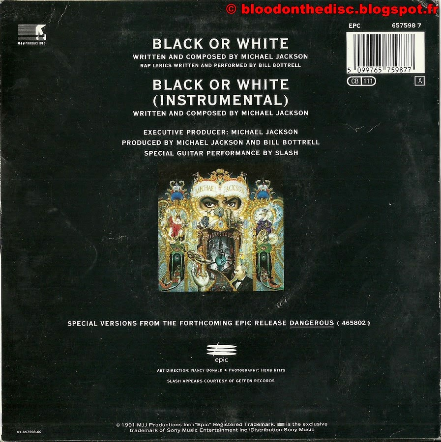 Black Or White 45T Back Cover