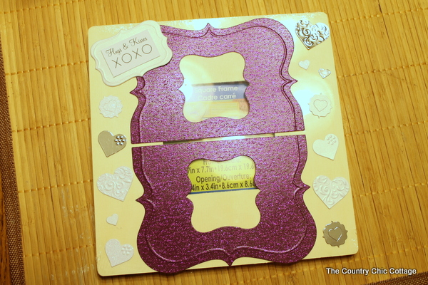 scrapbook embellishments to desk picture frames