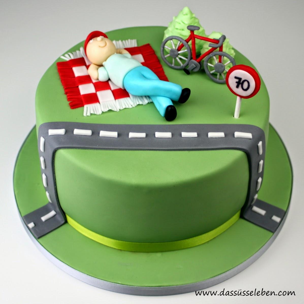 Rezept Geburtstagstorte mit Fahrrad | Das süße Leben