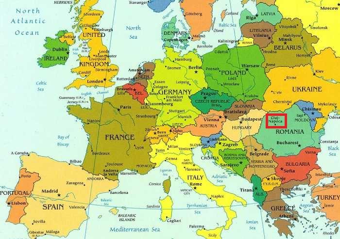 România, 6 mois d'expériences à venir !: Petit point géographique!