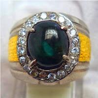 Cincin Batu Permata Bluish Green Sapphire