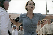 Katniss volunteers for Prim. This scene still shocks me.