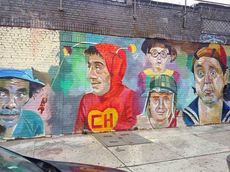 Mural de la vecindad del chavo del 8