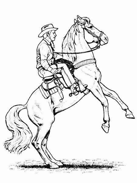 Cowboy Horse Coloring Pages
