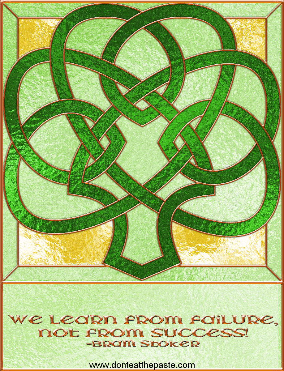 Shamrock with Bram Stoker quote