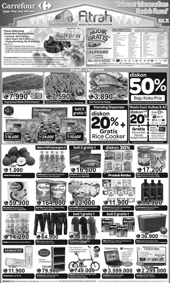 Carrefour Weekday Promo Terbaru Periode 31 Juli - 1 Agustus 2013 2013
