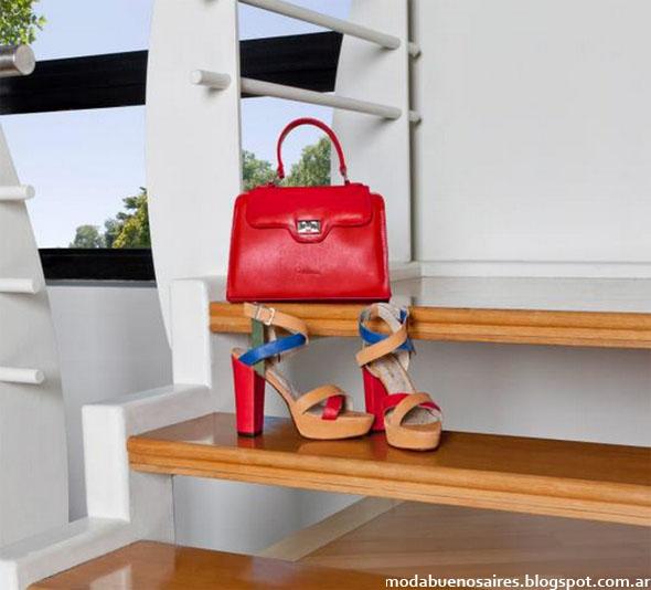 Corium primavera verano 2013. Carteras, sandalias de cuero moda  2013.