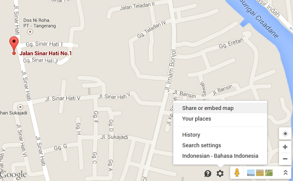 Mengambil Peta dari Google Maps