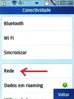 Rede celular Samsung Corby II