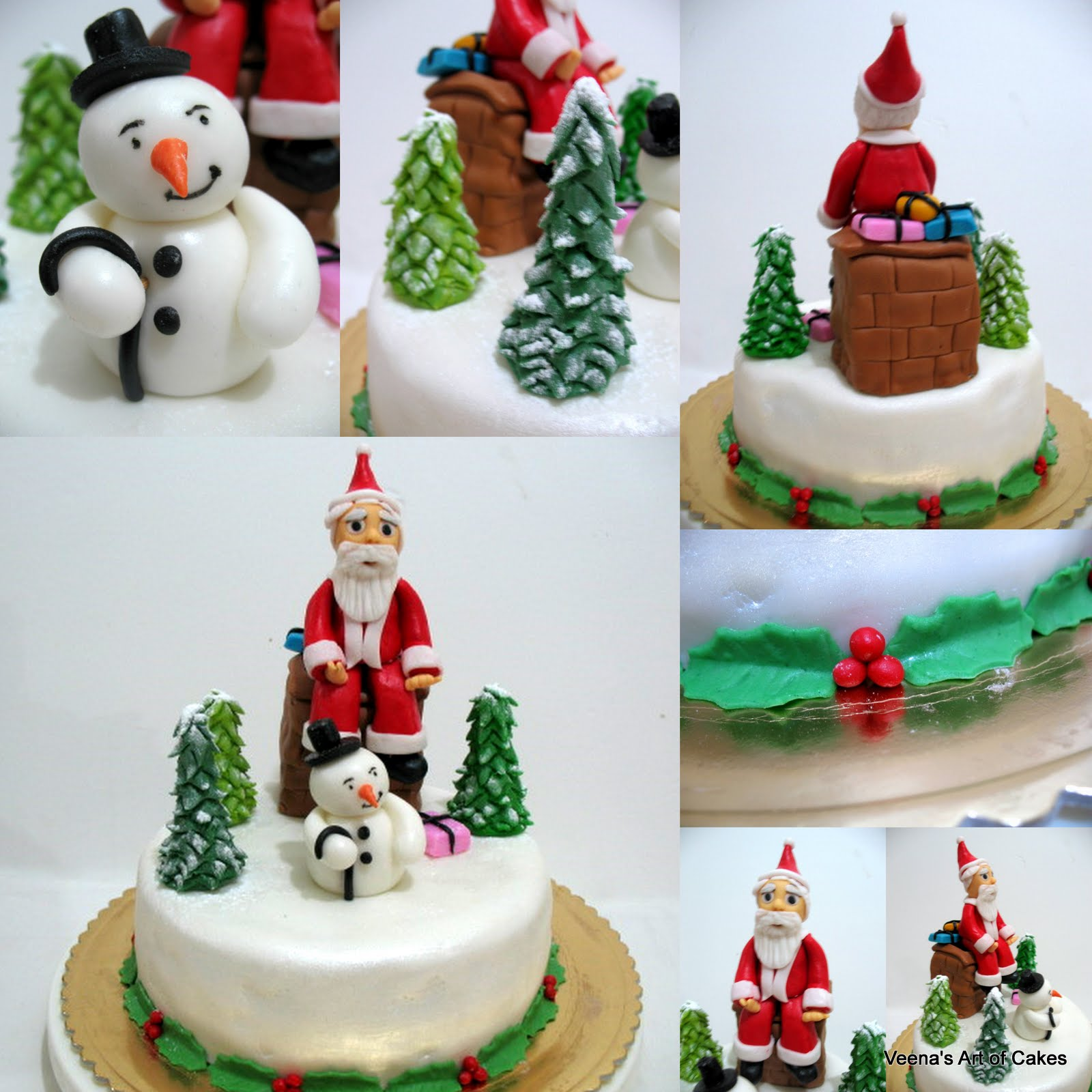 How to make a father christmas cake decoration - How To Make A Christmas Cake