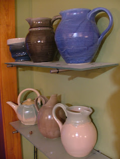 The Potter Stone's Pitchers and Facted Teapot
