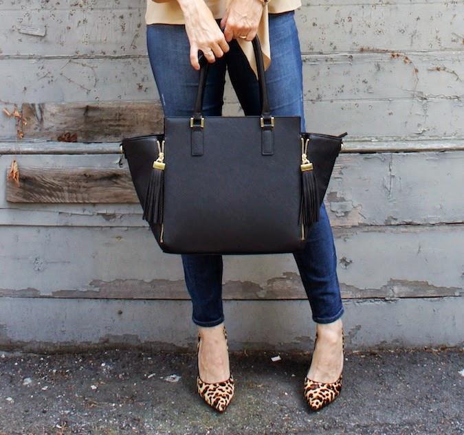 Nine West Flax leopard, boston fashion blogger, H&M boston