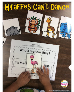 Giraffes Can't Dance Speech Therapy Book Companion-Shiny Star Linky- www.speechsproutstherapy.com