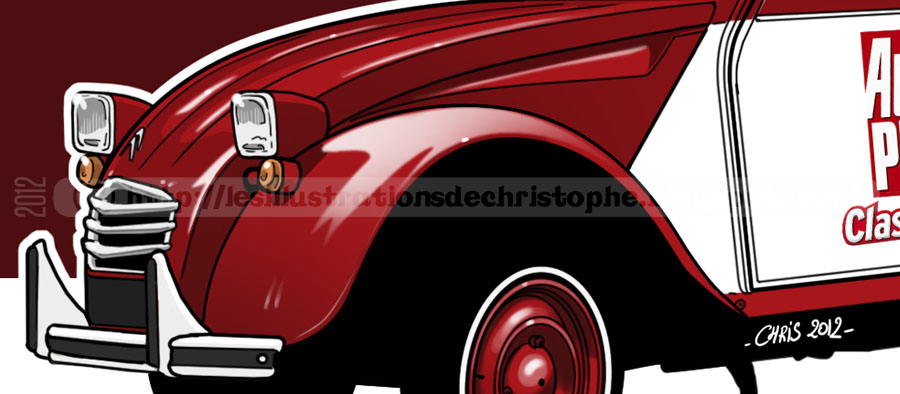 les illustrations de christophe  citro u00ebn 2cv azu vs auto