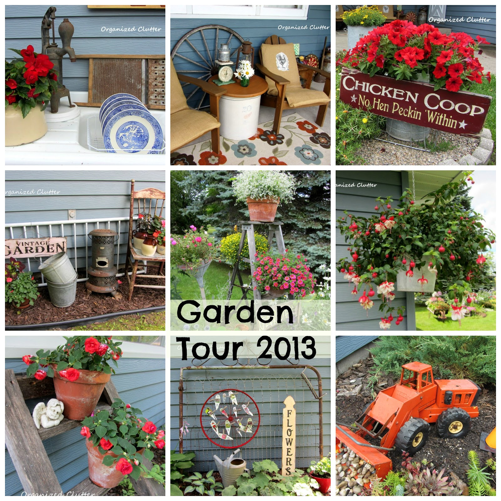 My garden tour 2013 organized clutter for Funky garden designs