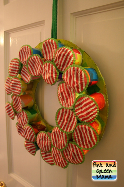 Pink and green mama christmas craft easy diy candy for Christmas crafts from recycled materials