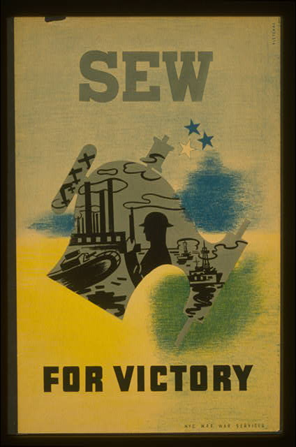war, wpa, federal art project, vintage, vintage posters, graphic design, free download, classic posters, retro prints, Sew For Victory - Vintage WPA War Poster