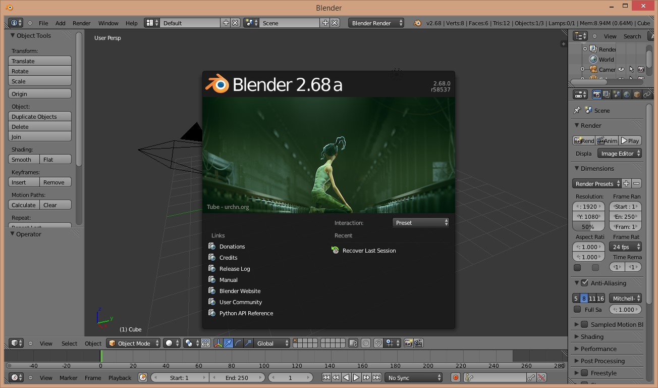 Buka Aplikasi Blender & Membuat Objek 3D menggunakan Blender | IT-Jurnal.com