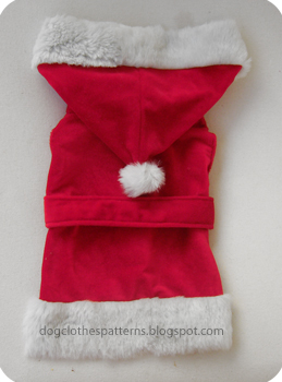 santa claus dog clothes free patterns