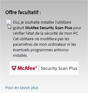 capture d'écran téléchargement de Adobe Reader
