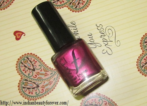 faces canada nail paint glazed ruby