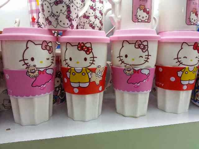 Gelas starbuck hello kitty