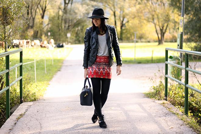 outfit-trend-fashionblogger-bohorock-Handm-boots-tamaris-schnallen-lederjacke-zara