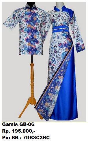 Gambar Gamis Batik Couple Terbaru