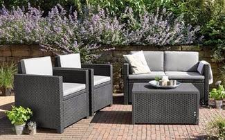 Decoracion y mueble conjuntos en ratan for Ofertas conjuntos de jardin
