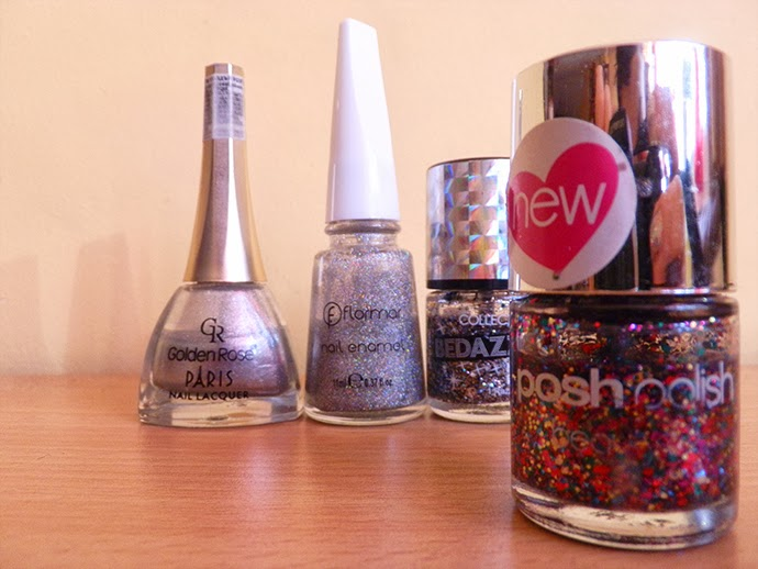 Glitter Manicure featuring Models own, Rimmel, collection and Beauty UK nail polishes