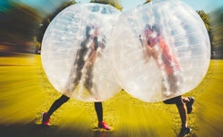 Epic Game of BUBBLE SOCCER