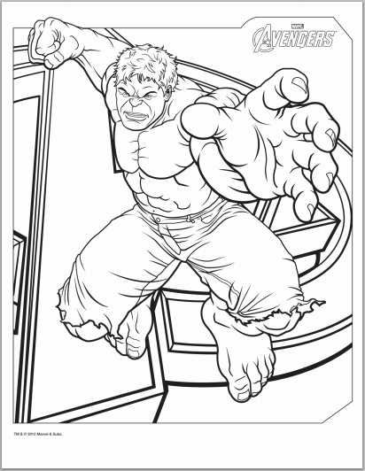 avengers hulk coloring page - Black Widow Marvel Coloring Pages