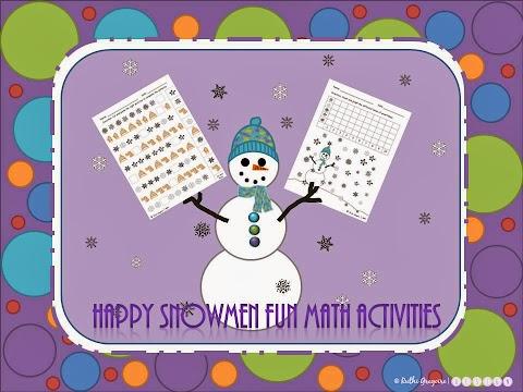 Happy Snowmen Fun Math Activities