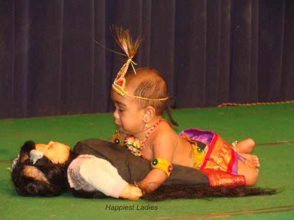 Krishna killing Pootani