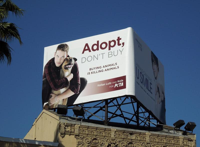 PETA Kellan Lutz billboard