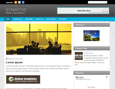 Synaptic Blogger Theme