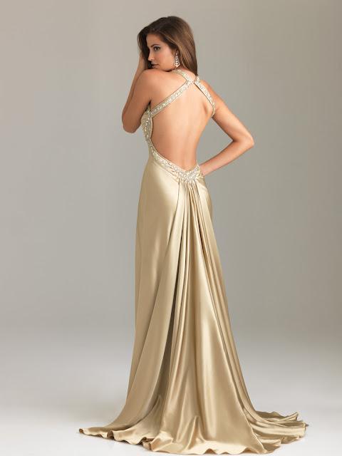 Cut Out Back Evening Dresses