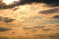 Und der gewohnte Himmel...