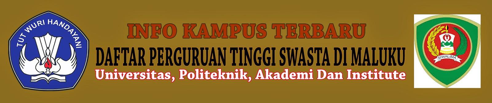 Daftar Lengkap Perguruan Tinggi Swasta Di Maluku