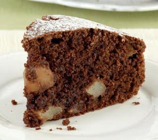 Homemade Pear and Chocolate Cake