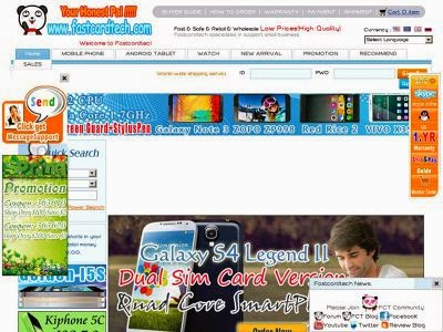 Captura de pantalla del sitio web www.fastcardtech.com.
